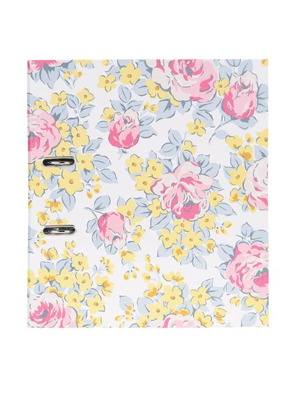Růžovo-bílý květovaný šanon Cath Kidston