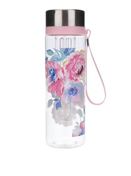 Růžová květovaná láhev Cath Kidston