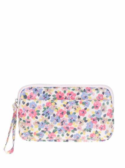 Modro-růžová květovaná kosmetická taštička Cath Kidston