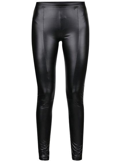 Černé koženkové kalhoty Jacqueline de Yong Geller