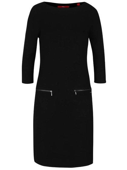 Černé šaty s kapsami s.Oliver