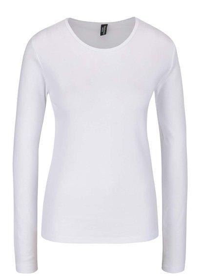 Bílé tričko s dlouhým rukávem Madonna MDA