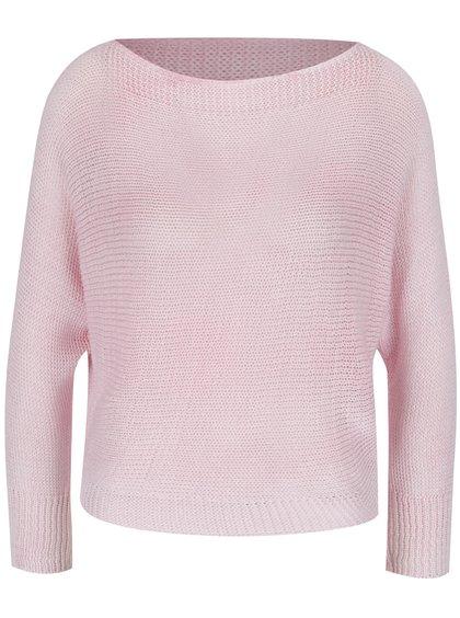 Růžový svetr s netopýřími rukávy Madonna Clarissa