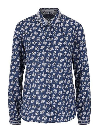 Krémovo-modrá květovaná košile Maison Scotch