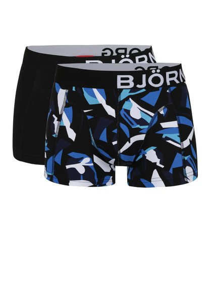 Sada dvou vzorovaných boxerek v černé barvě  Björn Borg