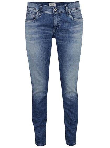 Modré dámské vyšisované džíny Pepe Jeans Joey