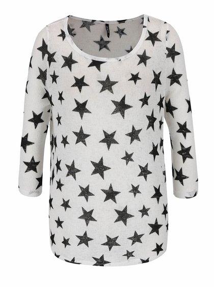 Bluză crem cu imprimeu stele Haily's Diana