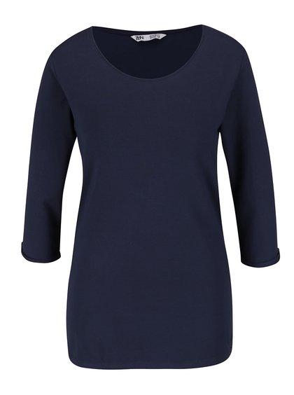 Tmavě modré basic tričko s 3/4 rukávem Zabaione Anna