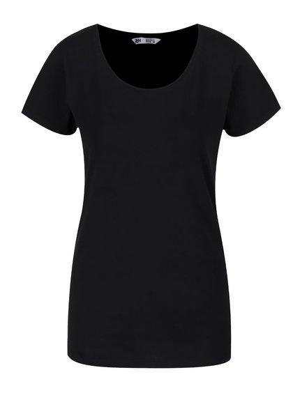 Černé basic tričko s kulatým výstřihem Zabaione Steffi