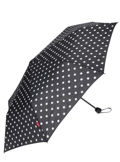 Umbrelă neagră cu buline s.Oliver pentru femei