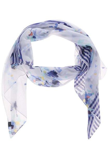 Modro-bílý šátek s modrými pruhy Tom Joule Wensley