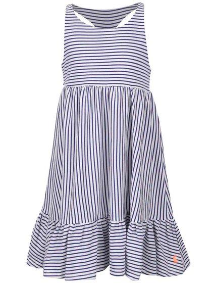 Modro-krémové holčičí pruhované šaty Tom Joule