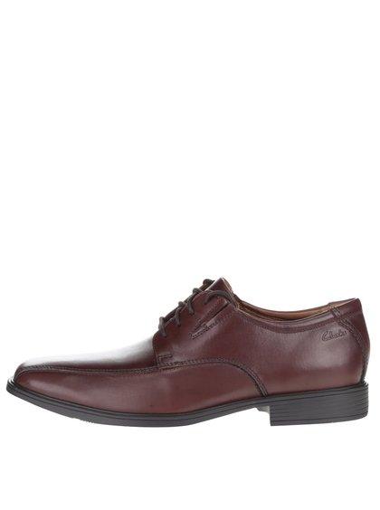 Pantofi maro Clarks Tilden Walk din piele