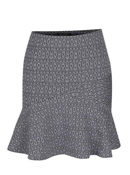 Černo-krémová vzorovaná sukně Miss Selfridge