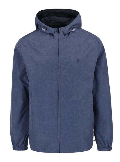 Jachetă reversibilă albastru melanj Original Penguin Reversible cu logo