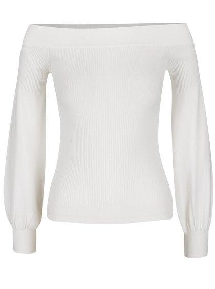 Krémový lehký svetr s odhalenými rameny Miss Selfridge