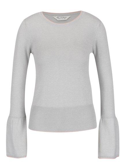 Bluză gri Miss Selfridge din jerseu subțire cu mâneci clopot