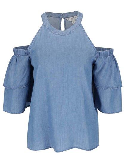 Bluză albastră Miss Selfridge din denim