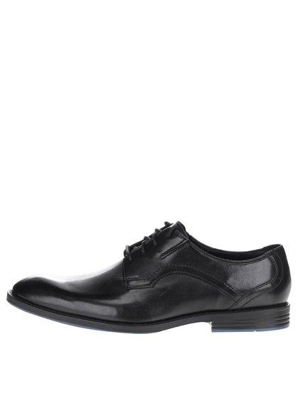 Pantofi negri Clarks Prangley Walk din piele