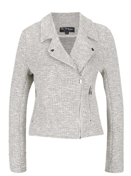 Jachetă subțire gri deschis Miss Selfridge cu model discret