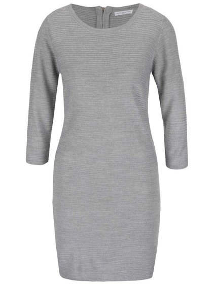 Šedé svetrové šaty s 3/4 rukávy Jacqueline de Yong Mathison