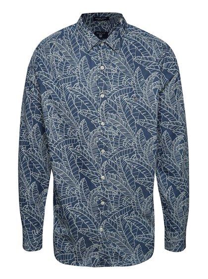 Krémovo-modrá pánská košile GANT Leaf