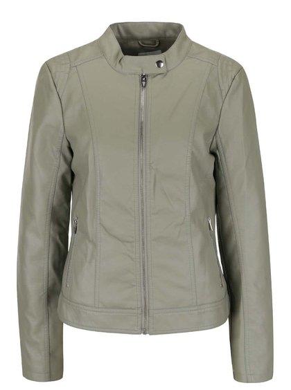 Jachetă verde VILA Aya din piele sintetică