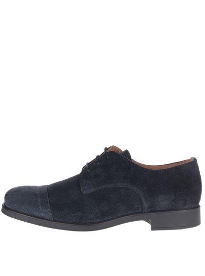 Pantofi albastru închis Selected Homme Oliver din piele întoarsă