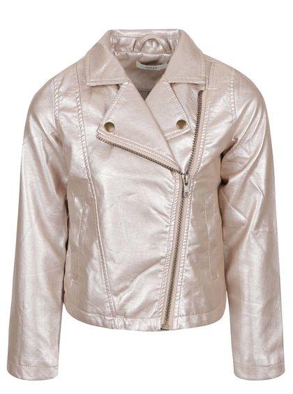 Jachetă roz pal name it Mya cu aspect lucios pentru fete