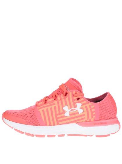 Pantofi sport roz & portocaliu Under Armour UA W Speedform Geminii cu model