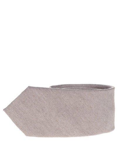Hnědo-šedá kravata s jemným vzorem Selected Homme Magne