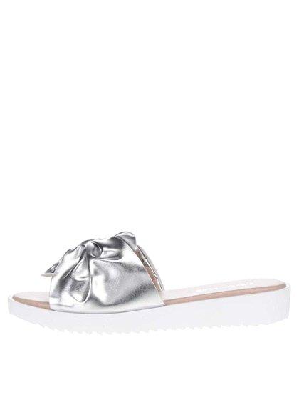 Papuče v striebornej farbe Miss KG