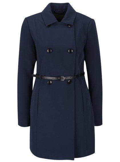 Tmavě modrý lehký kabát s páskem VERO MODA Rose