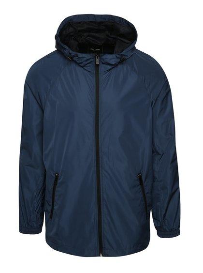 Modrá šusťáková bunda s kapucí ONLY & SONS Navarro