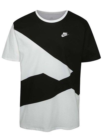 Černo-bílé pánské vzorované triko Nike