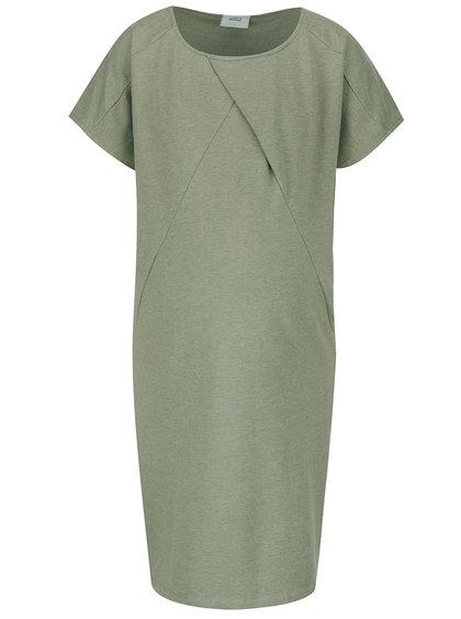 Šedozelené těhotenské volné šaty Mama.licious Moon