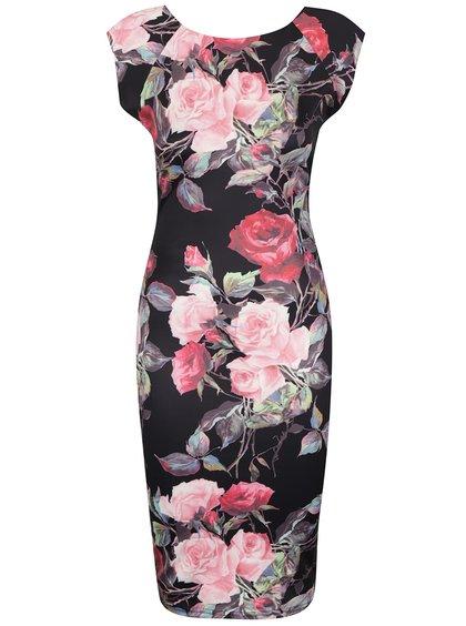 Rochie neagră AX Paris cu model floral