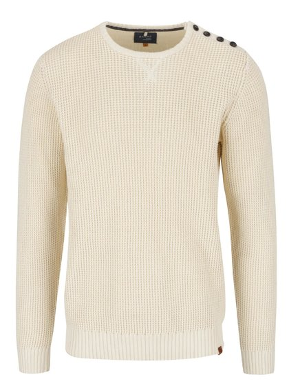 Krémový svetr s knoflíky na ramenou Blend