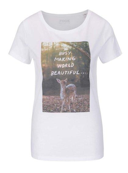 Bílé dámské tričko ZOOT Originál Busy making world beautiful