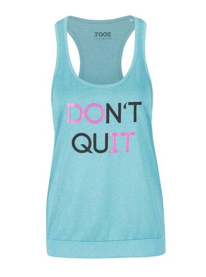Modré dámské tílko ZOOT Originál Don't quit