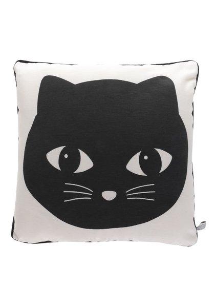 Béžový polštář s potiskem kočky Sass & Belle