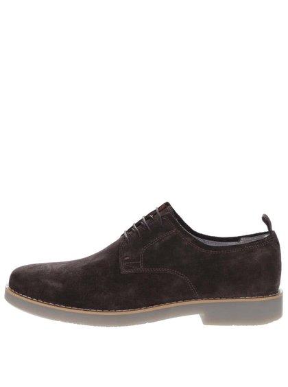 Pantofi maro Vagabond Belgrano din piele întoarsă
