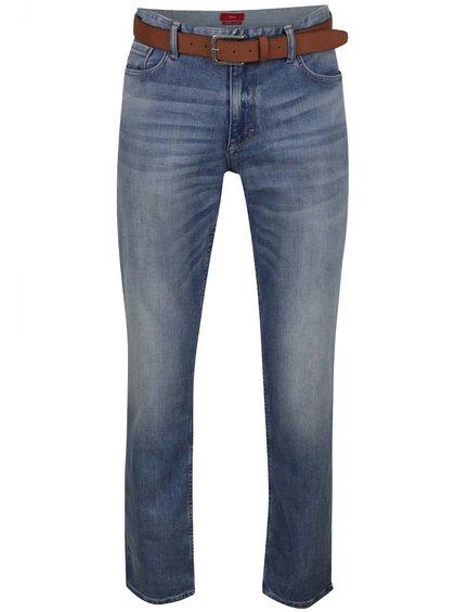 Modré pánské strečové džíny s páskem s.Oliver