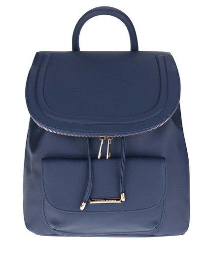 Modrý koženkový batoh Dorothy Perkins