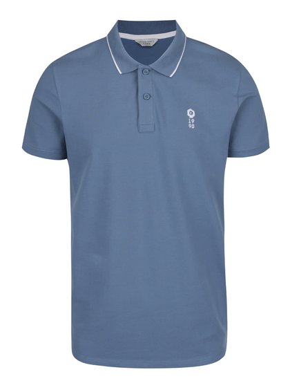 Modré polo triko Jack & Jones Stone