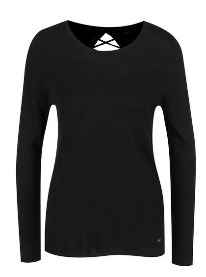 Černý svetr se šněrováním ONLY Cosy