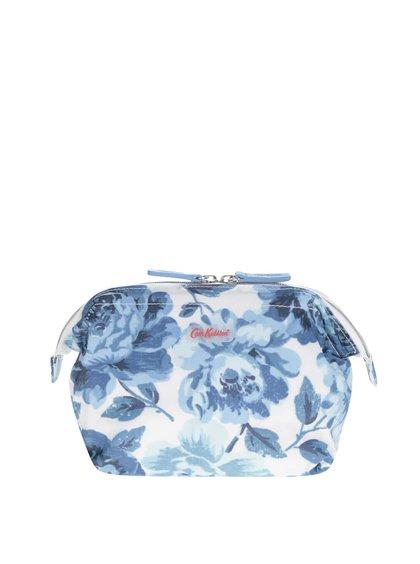 Krémovo-modrá květovaná kosmetická taštička Cath Kidston