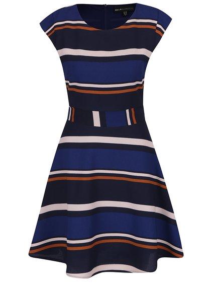 Rochie albastră Mela London cu model în dungi