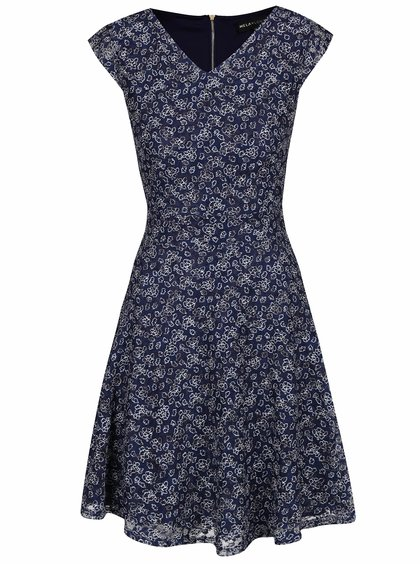 Modré vzorované šaty Mela London