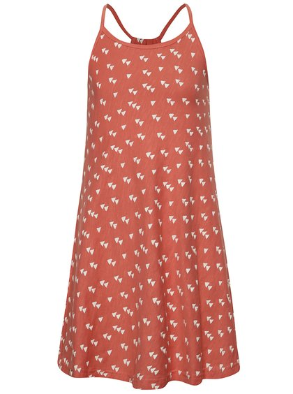 Rochie roșie Blue Seven din bumbac cu model